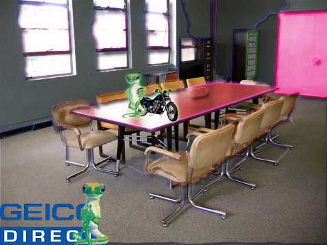 Geico Gecko meeting Room
