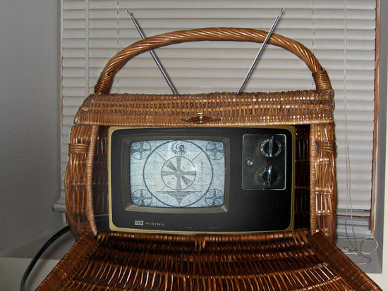 Old Portable TV Basket