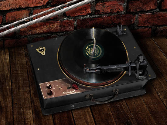Old 78 rpm Record Player