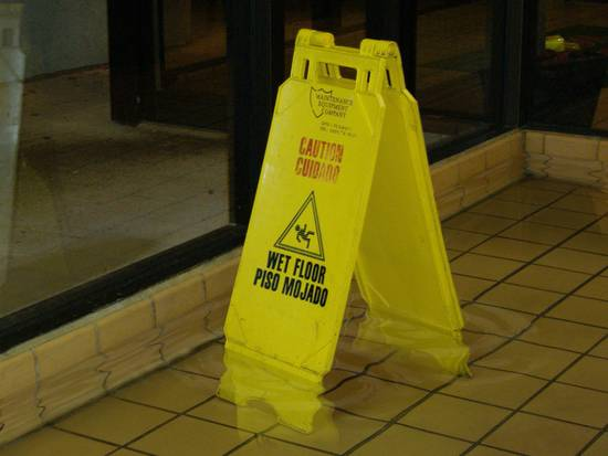 Caution - Very Wet Floor