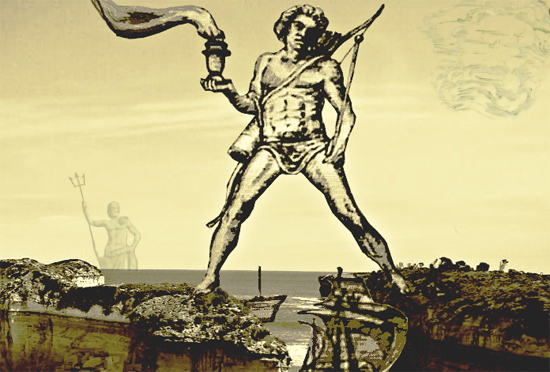 an evaluation of the magnificent colossus of rhodes At the beginning of the 3 rd century bc the colossus of rhodes on a small island in the aegean sea it was a bronze statue of apollo (later identified with the sun-god helios), about 100 feet high (32 metres) which was considered, along with the great pyramid of khufu, one of the seven wonders of the world  the magnificent sculpture of.