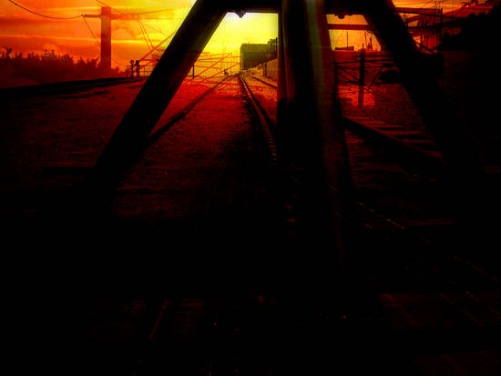 Train Yard Sunset