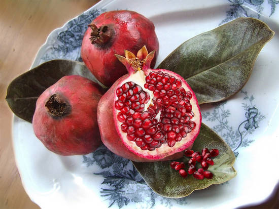 Sliced Pomegranates