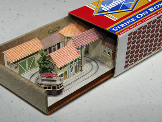 House into the matchbox