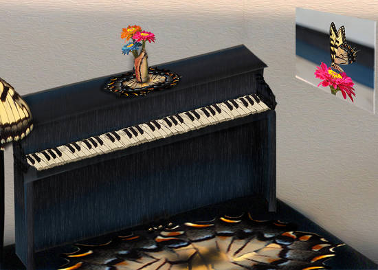Butterfly Piano Room