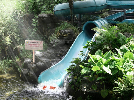 Closed Water Slide...