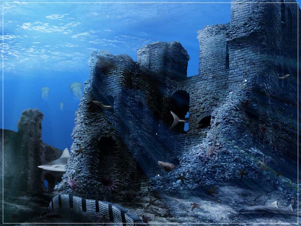 Real Underwater Ruins Photoshop Contests, Wi...