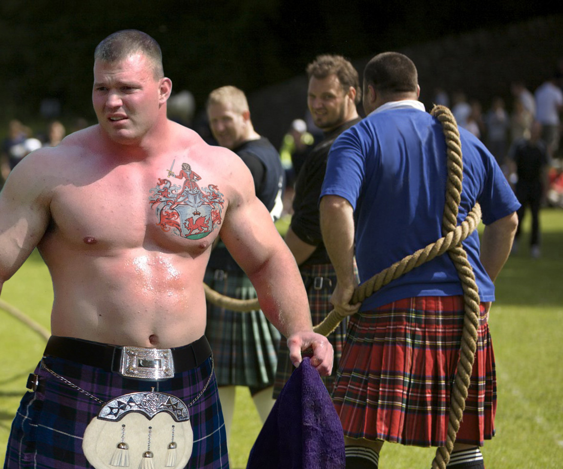 Men in kilts with tattoos your